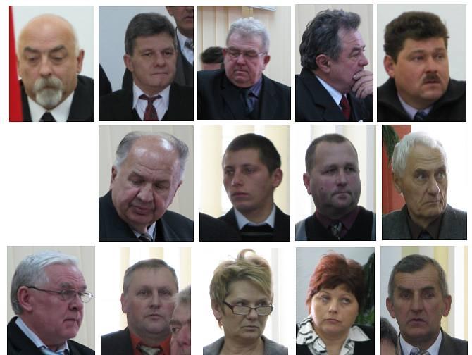 Radni Rady Miejskiej w Szczebrzeszynie (brak zdjęcia radnego Andrzeja Traczykiwicza)