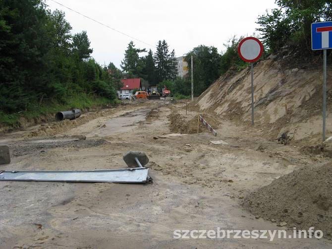 Prace na ul. Ogrodowej w Szczebrzeszynie. Fot. Tomasz Gaudnik