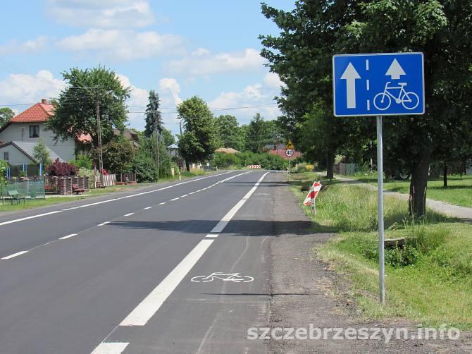 Szlak rowerowy  Green Velo w Brodach Małych (gm. Szczebrzeszyn). Foto : Tomasz Gaudnik